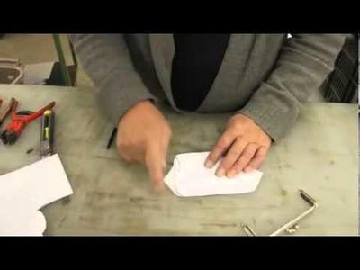 Anleitung zum nähen einer Tasche mit einem Taschenbügel purse frames handel tutorial