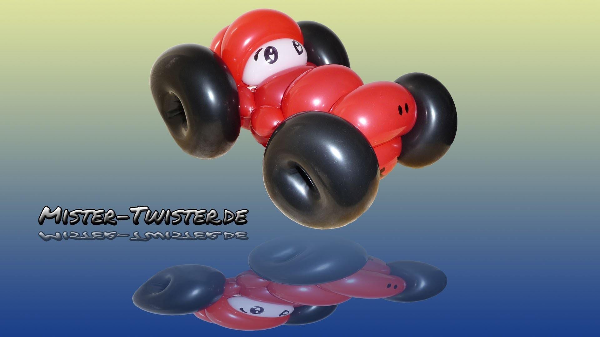Balloon car, Ballon Auto, Modellierballon Ballonfiguren