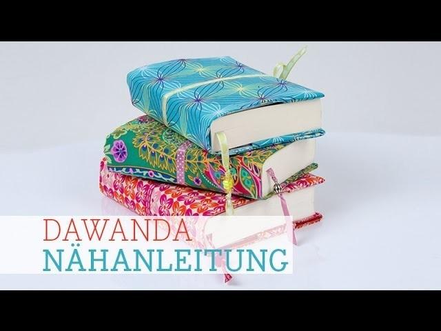 DaWanda Nähanleitung: Buchhülle nähen