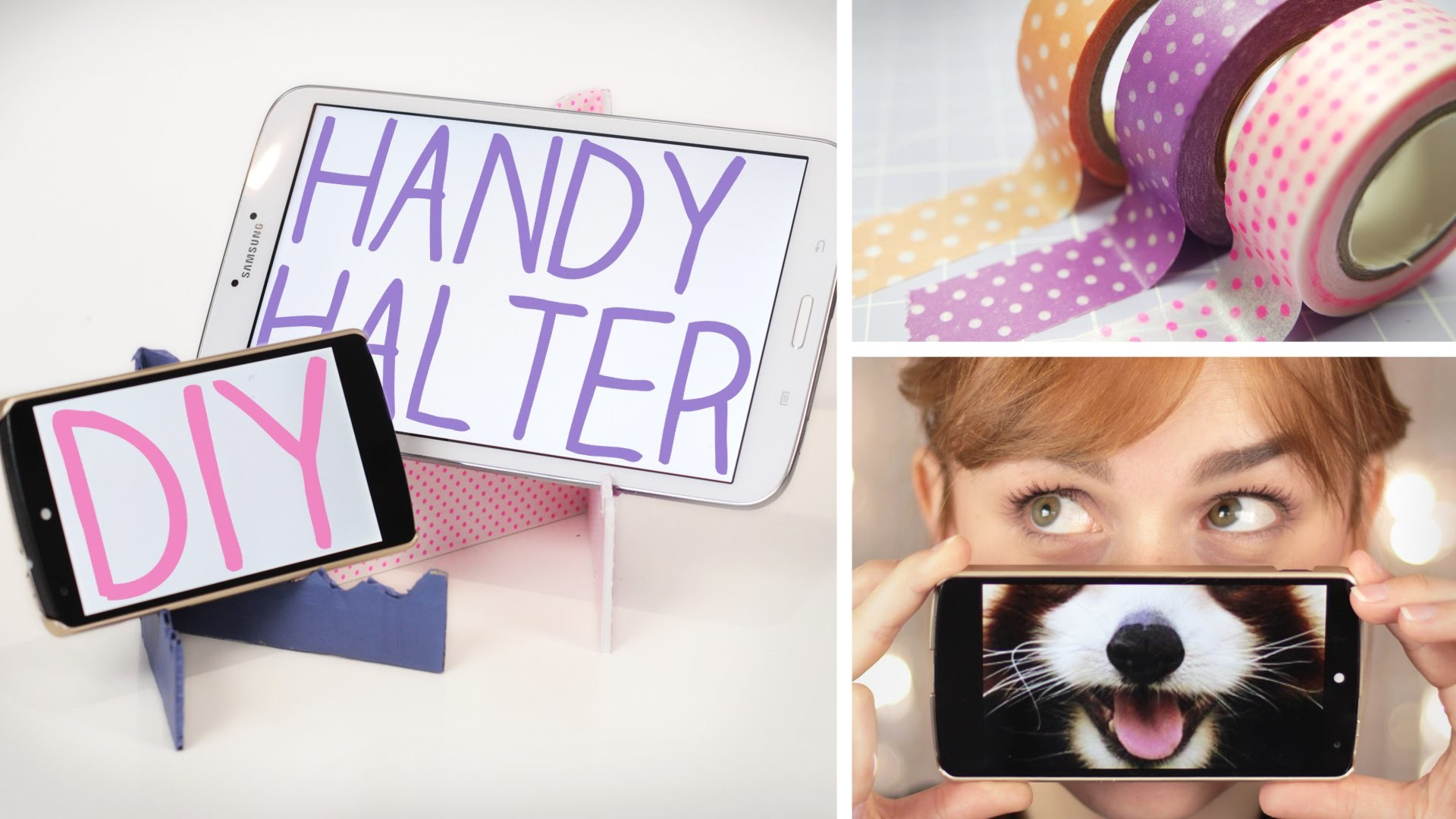 DIY Handy.Tablet Halter aus Pappe - mega easy - alive4fashion