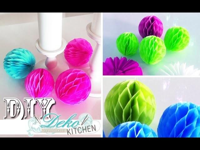 DIY: Wabenbälle für Party-Deko einfach selber machen | Deko Kitchen