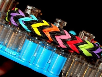 Fishtail Armband dick Var. 3 - Rainbow Loom mit Loom Bands Anleitung deutsch