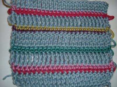 Ihr 25. Quadrat für ihre Patchwork Decke Häkeln ( neues Streifenmuster)
