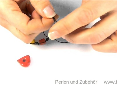 Knüpfen mit Lederband und Perlen als Anleitung zum Selber machen