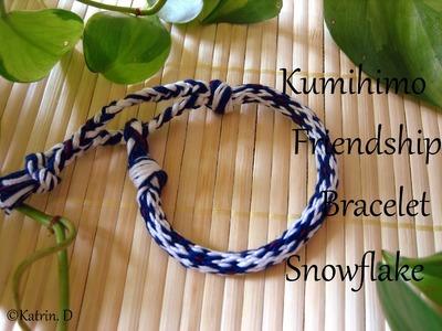Kumihimo Friendship Bracelet Snowflake