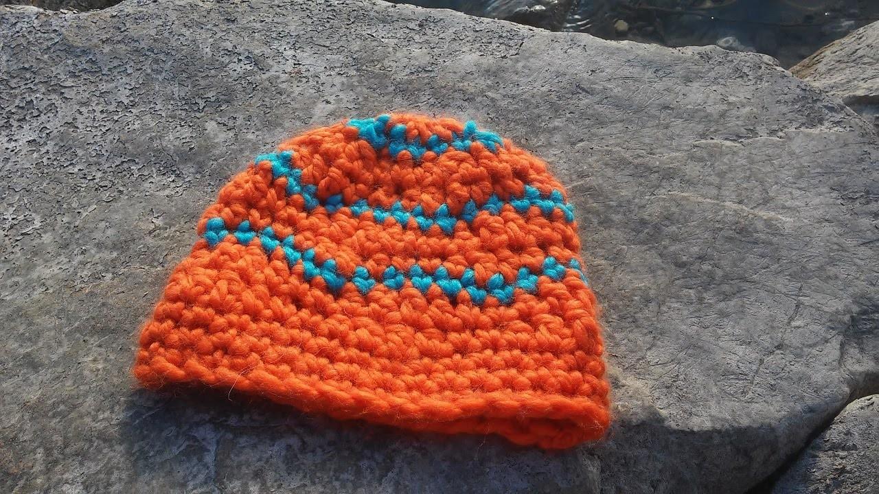 Mütze mit Wellenmuster häkeln