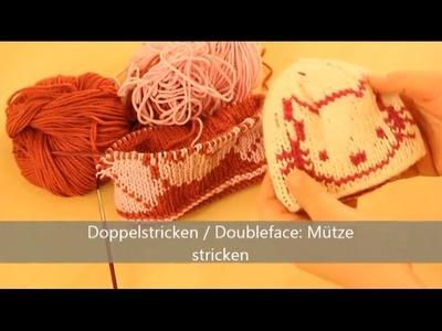 Mütze stricken in Doubleface - Stricken für Fortgeschrittene