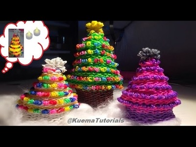 Rainbow Loom Weihnachtsbaum.Christmas Tree(small and big)