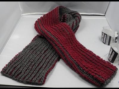 Stricken - Linkshänder - Schal im Patentmuster aus Alto Moda Cashmere von Lana Grossa