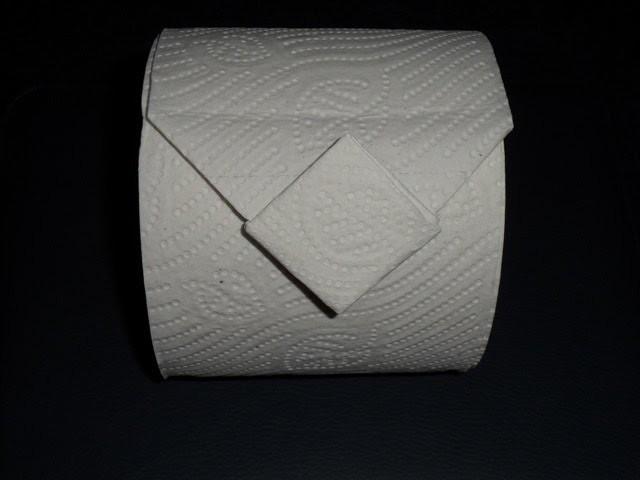 Toilettenpapier Origami falten Diamant fold diamand