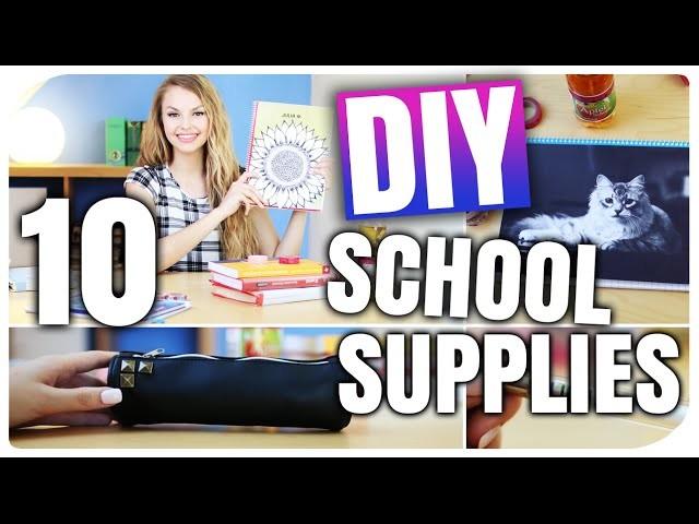 10 DIY IDEEN für BACK TO SCHOOL | TUMBLR inspiriert | DIY SCHOOL SUPPLIES | XLAETA