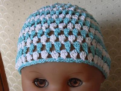 Baby Mütze Häkeln m. Tropfen muster Baby hat crochet*Tutorial Handarbeit