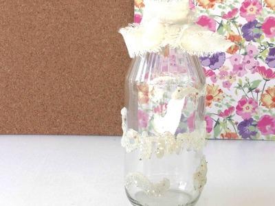 DIY Deko für den Sommer Flasche mit Sand Sommer Strand