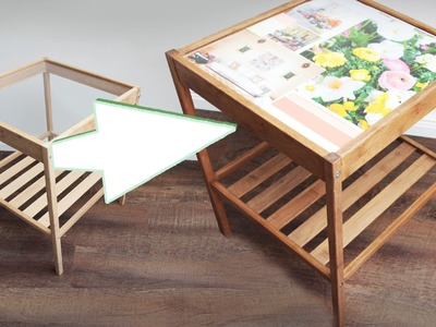DIY Tisch verschönern - Glastisch Idee - Streichen, Dekorieren - upcycling