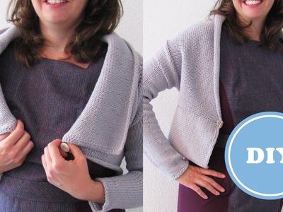 DIY: Upside - Down - Bolero einfach selbst stricken | kostenlose Anleitung
