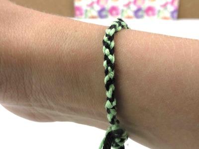Freundschaftsband super einfach selber machen. DIY bracelet - sehr leicht - selbstgemacht