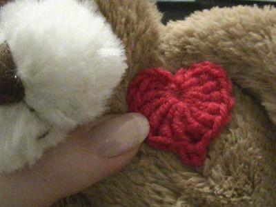 Großes Herz mit Spitze häkeln - einfach und schnell - perfekt als kleines Geschenk