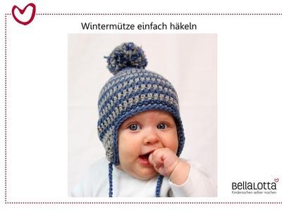 Häkelmütze für Babys einfach häkeln - für Anfänger