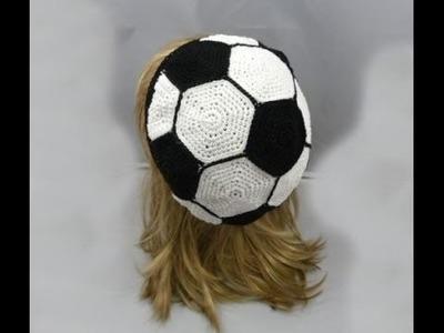 Häkeln - Beanie Fußball - Mütze - Teil 2