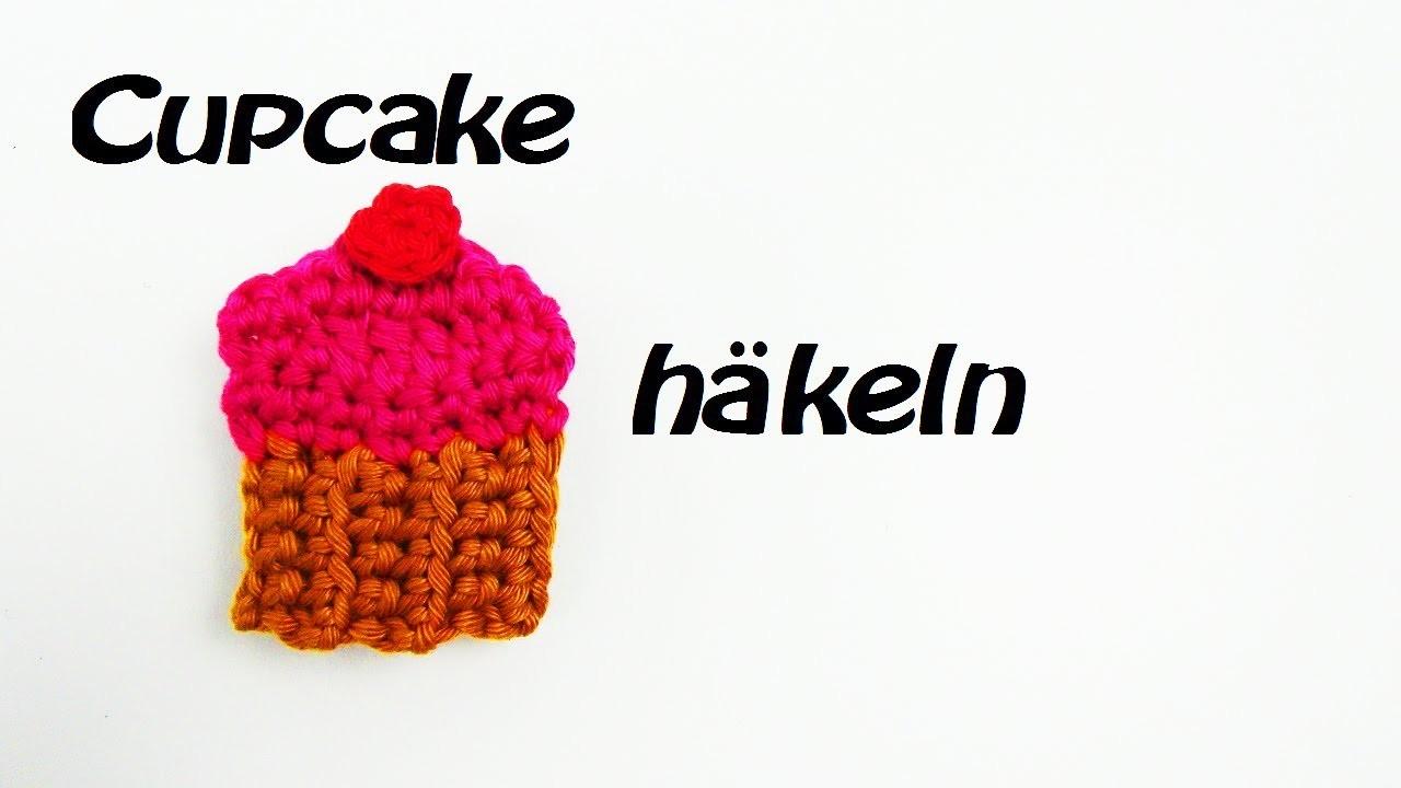 Häkeln Cupcake - als Magnet oder Aufnäher - Sehr Süß!