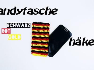 Häkeln Handytasche - Schutzhülle - dreifarbig!