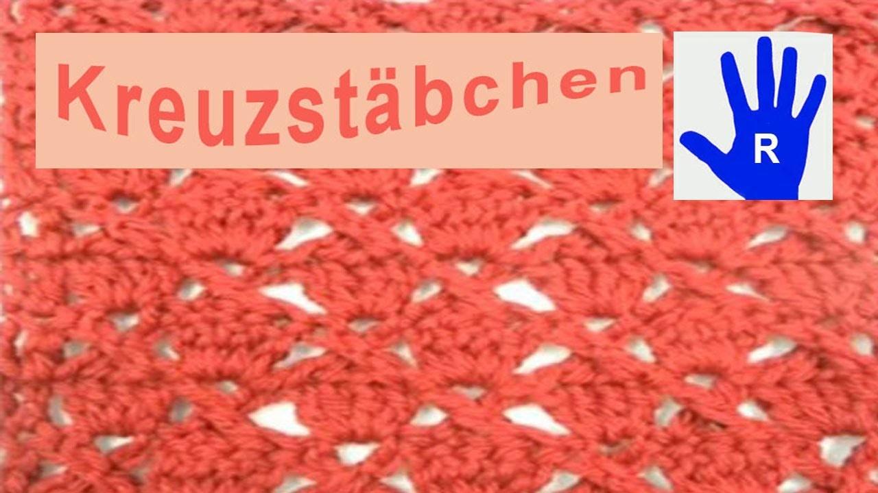 Häkeln - Muster - Kreuzstäbchen häkeln - Material von Debbie Bliss