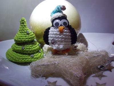 Häkeln Weihnachtlicher Pinguin Anleitung