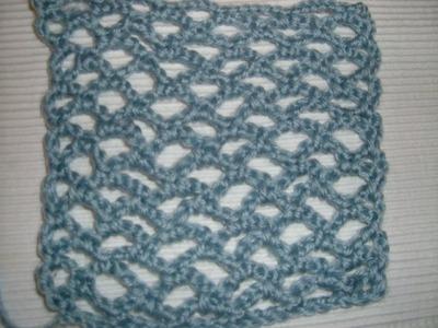 Ihr 10. Quadrat für ihre Patchwork Decke Häkeln mit Bogenmuster