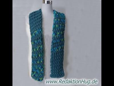 Knooking - Schal im Sternchenmuster aus hatnut XL 55 von Pro Lana