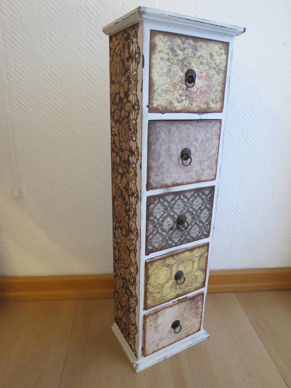 Möbel umgestalten * Vintage * Holzschränkchen