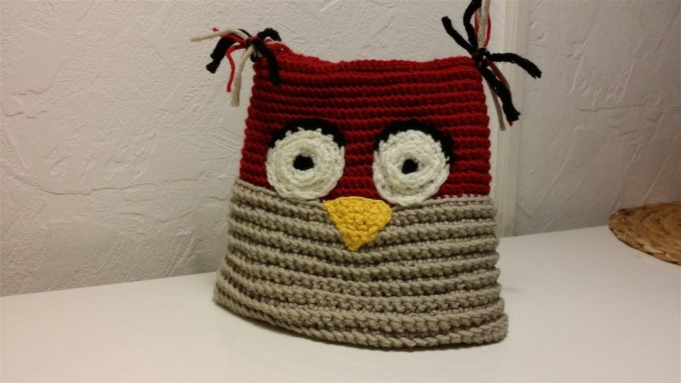 Mütze häkeln für Kinder im süßen Eulen Design - Teil 2