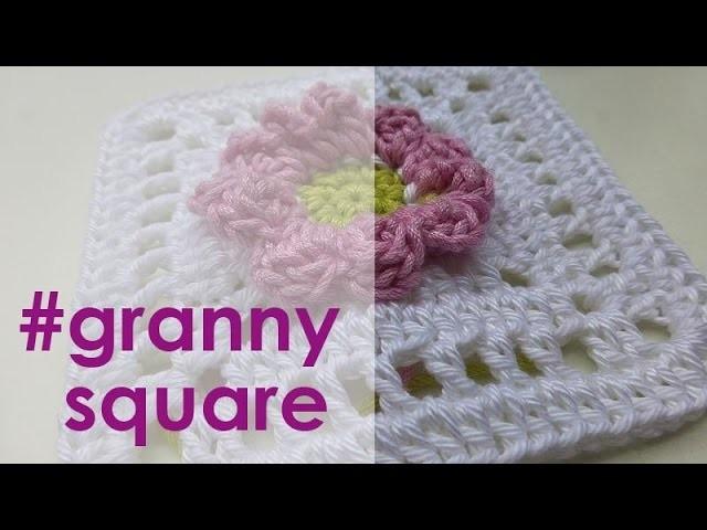 """Nadelspiel Adventskalender 2014 * 24. Dezember * Granny Square """"Sehnsucht nach dem Frühling"""""""