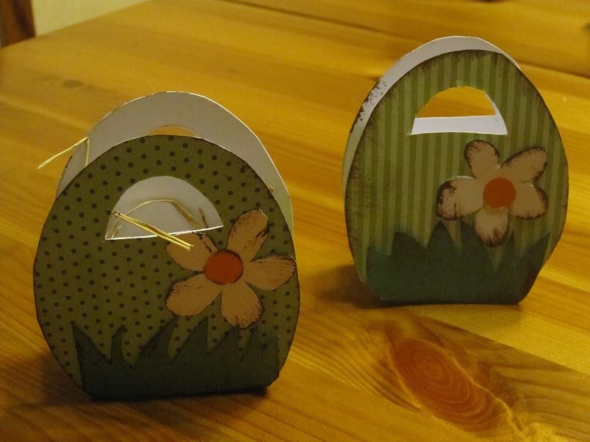 OSTERBASTELN: Osterkörbchen aus Papier basteln - Bastelideen Ostern - Osterdeko