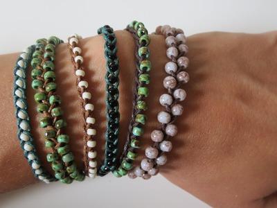Perlen Armbänder flechten * 3 Varianten * Anleitung