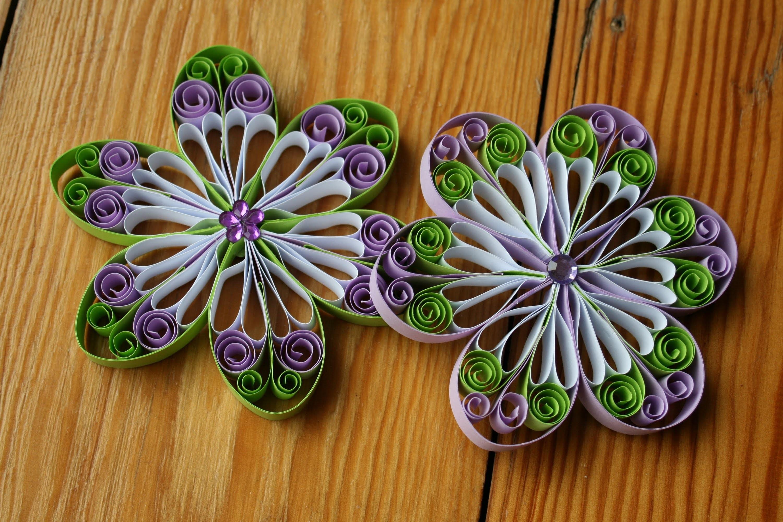 Quilling  -  Blüte aus Papier selbermachen