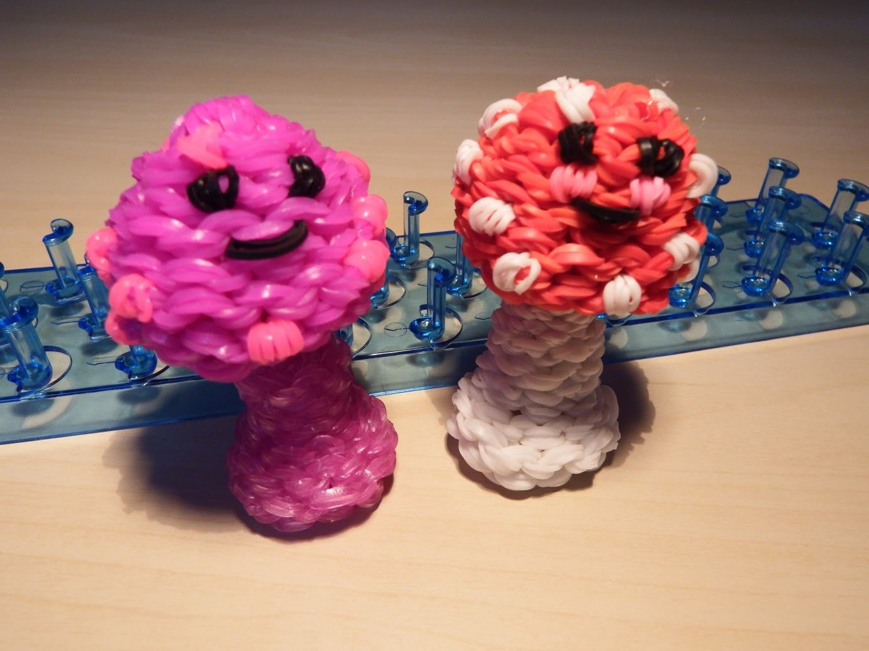 Rainbow Loom Bands - 3D Pliz. 3D Mushroom