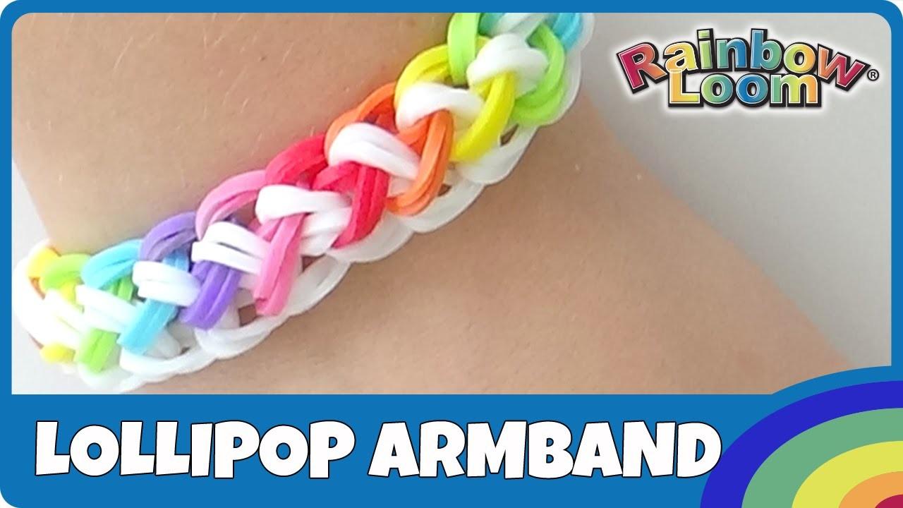 Rainbow Loom Lollipop-Armband - deutsche Anleitung