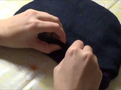 Wie man Fleece. Stoff ohne Nähmaschine in eine Mütze näht by BerlinCrochet