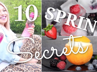 10 easy SPRING SECRETS. HACKS ♥ BibisBeautyPalace