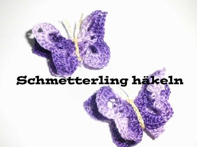 3D Schmetterling häkeln - Applikation oder Tischdeko häkeln