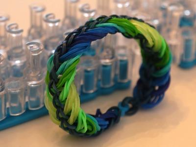 """Cooles Loom Armband im """"Blue Rainbow Look """" :)) Anleitung auf Deutsch!"""