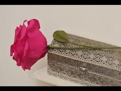 Crepe Paper Roses - Krepp Papier Rosen