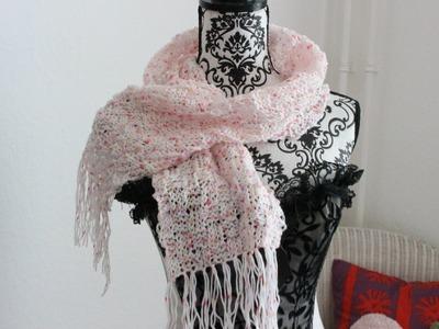 Einen Schal stricken *Schachbrettmuster*