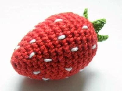 Gratisanleitung gehäkelte Erdbeere