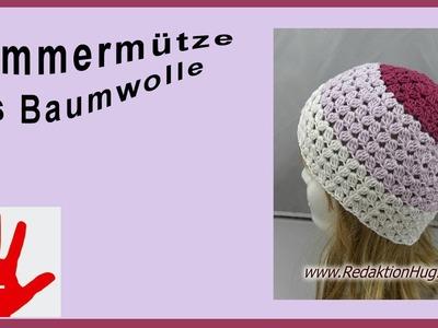 Häkeln - Linkshänder - Mütze Sommer - Baumwolle von Pro Lana