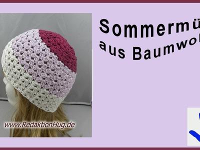 Häkeln - Mütze Sommer - Baumwolle von Pro Lana