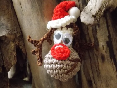 Häkeln RUDOLPH the red Nose Rentier Weihnachten  Anleitung häkeln Tutorial