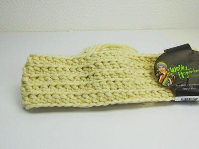 Häkeln Stirnband Winter beige tolles Muster DIY Crochet Pattern