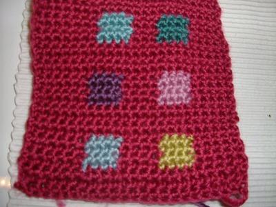 Ihr 11. Quadrat für ihre Patchwork Decke Häkeln mit Farbquadraten