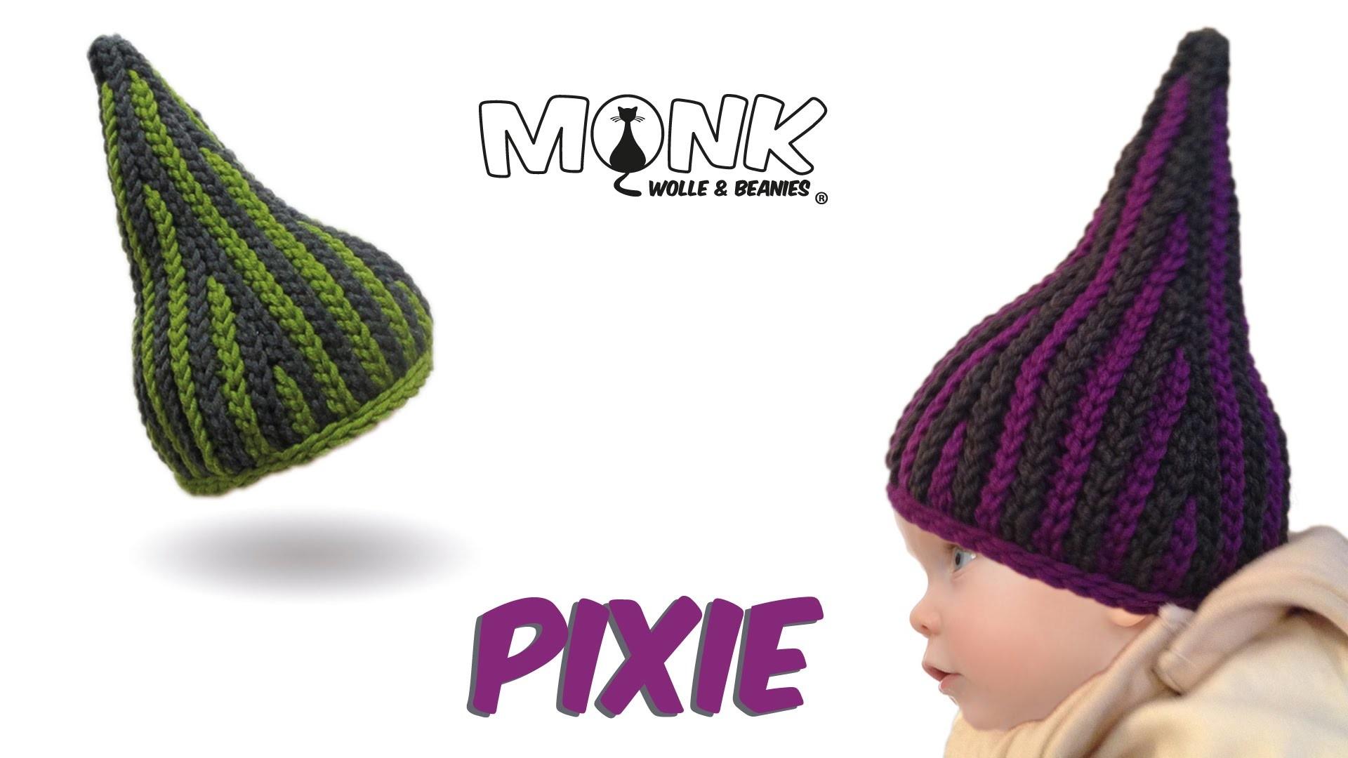 Mütze bosnisch häkeln - Pixie Babymütze - Kettmaschen häkeln